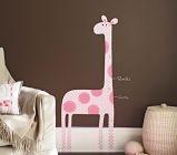 Giraffe Decal Growth Chart