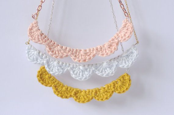 Pretty crochet necklace.