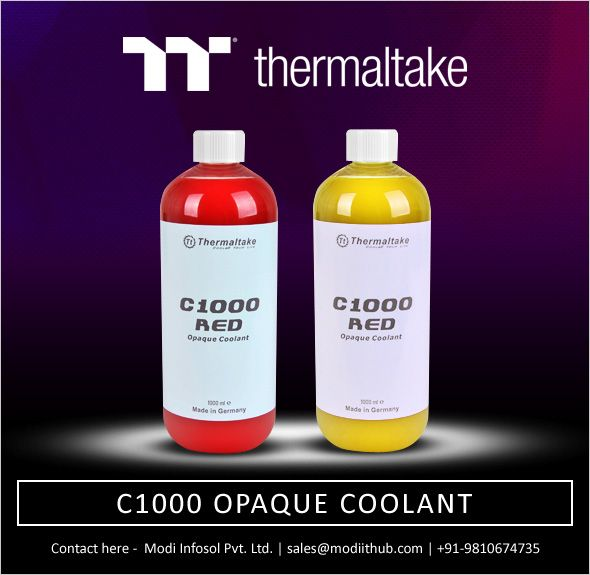 The latest C1000 Opaque Coolant launched by Thermaltake is
