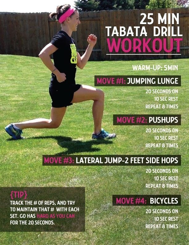 Another workout sizzler is here! Happy Tabata Tuesday! Are you looking for: ~an equipment-free, full body workout? ~a short but extremely effective workout? ~more bang for your buck? (i.e.. lots of...