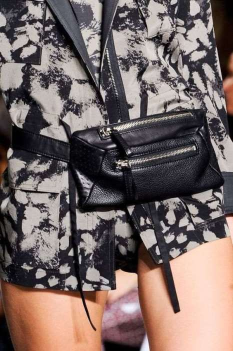 сумка-кошелек на пояс, кожаная сумка на пояс