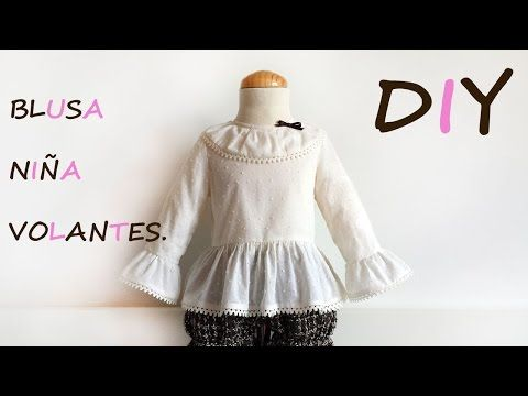 Blusa niña volantes. Como hacer una blusa de niña. - YouTube