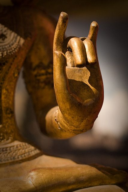 "Karana mudra, ""expelling negativity"". Buddha's hand....Isn't that the sign Cecily gave Mista'? ""Until you do right by me....."""