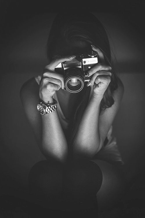 Woman / Photographer / Black and White Photography