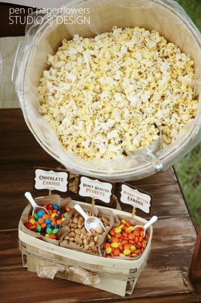 super bowl popcorn bar
