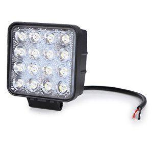 Rupse 48W LED Phare de Travail Carré étanche Driving Light Lumière pour Véhicule Tout-terrain Off Road Jeep Camion SUV ATV VTT Chariot…