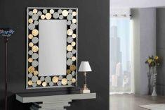 Miroirs Décorés en Feuille d´Or : Modèle RUBICON