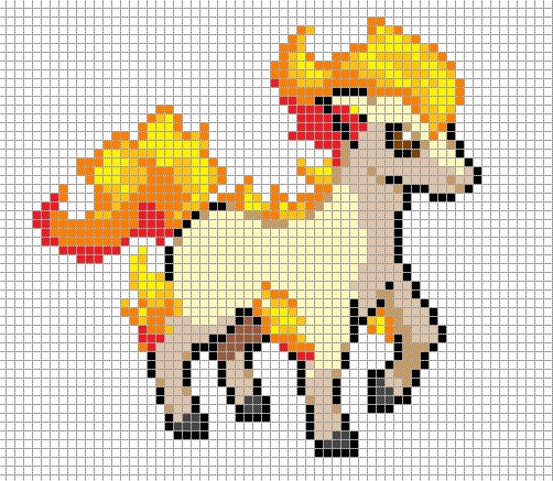Ponyta Pixel Art Grid by Hama-Girl.deviantart.com on @deviantART
