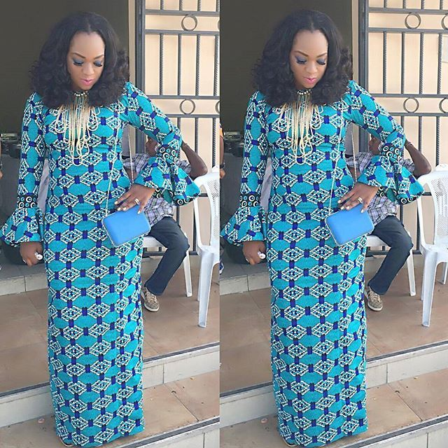 Creative Ankara Long Gown Style http://www.dezangozone.com/2016/07/creative-ankara-long-gown-style_31.html