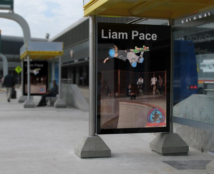 Liam Pace, Grom Of The Month (GOTM) street ads