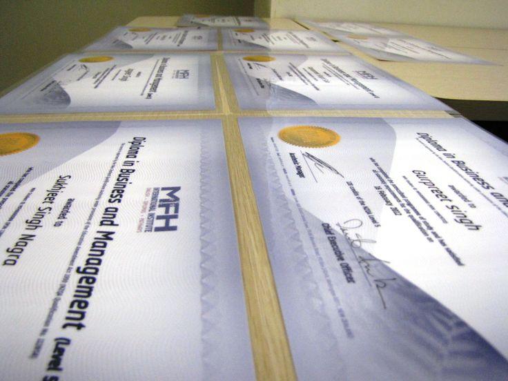 Preparing the Diplomas!