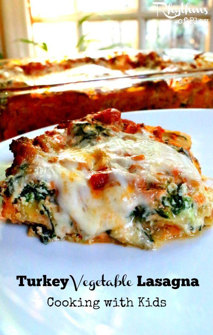 Turkey Vegetable Lasagna Recipe: Cooking with Kids