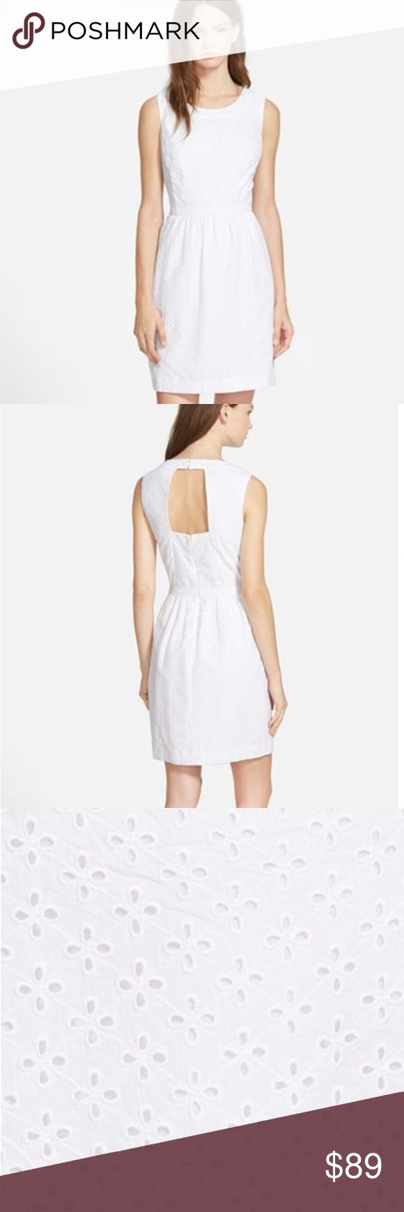 Vineyard Vines Eyelet Dress A fitted waistline lends figure-defining flattery to a sleeveless cotton dress punctuated with allover eyelet detailing and a skin-baring back cutout. A flattering A-line skirt trimmed with dainty scallops completes the ethereal look. Vineyard Vines Dresses