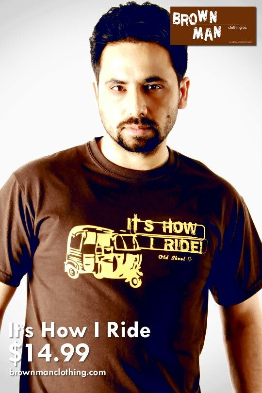 Our male model Manjit rocking our It's How I Ride t.shirt. Voting for who rocks our gear the best will start soon!