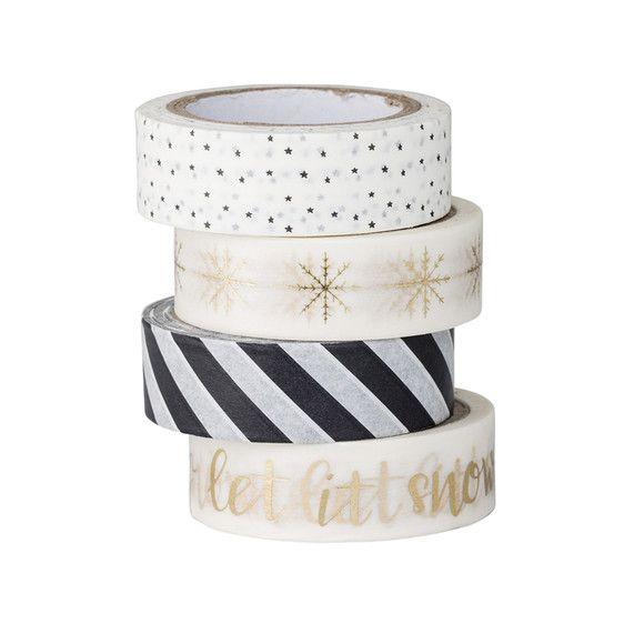 taśmy papierowe washi tape na Święta Bożego Narodzenia Bloomingville