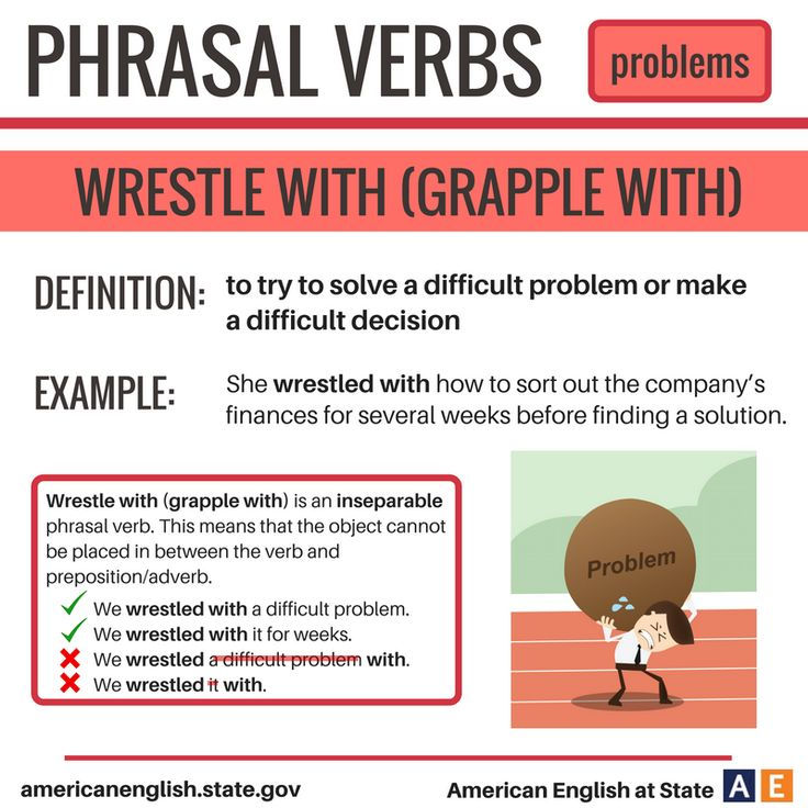 Phrasal Verbs: Problems - Wrestle With (Grapple With)