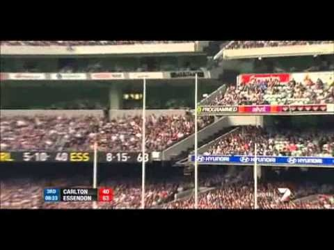 Published on Apr 22, 2012 by dw29392  Premiership favourites my arse!!! The Bombers silence a cocky, complacent Carlton by 30 points to continue their undefeated start to 2012.