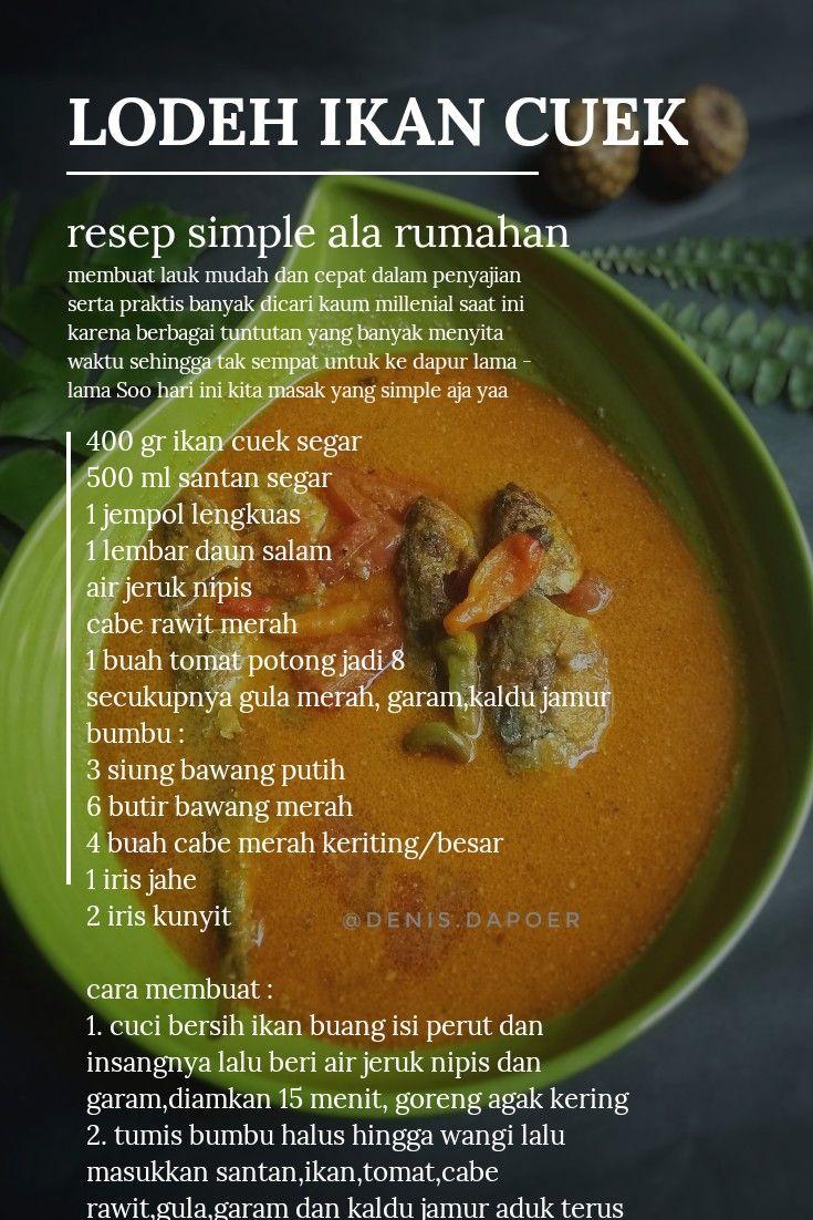 LODEH IKAN CUEK resep simple untuk lauk sehari hari di