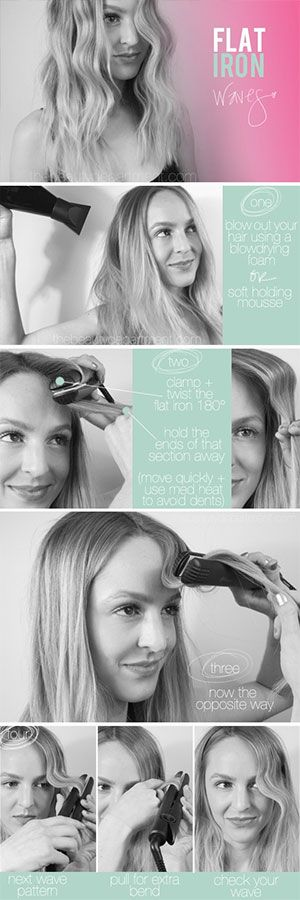 how to make your hair wavy with a flat iron