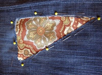 viola & pearl: Patched Jeans Tutorial