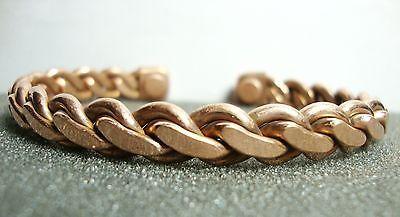 Unisex Pure Copper Cuff Arthritis Ache Reliever Adjustable Health Bracelet