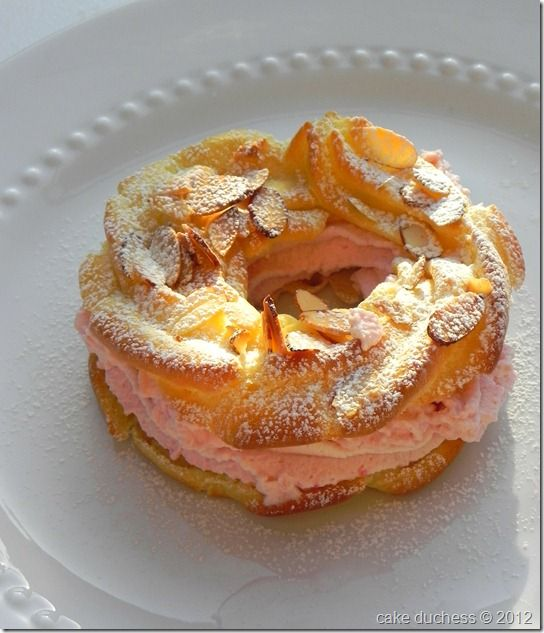 Paris Brest with Raspberry Whipped Cream Filling via @savoringitaly