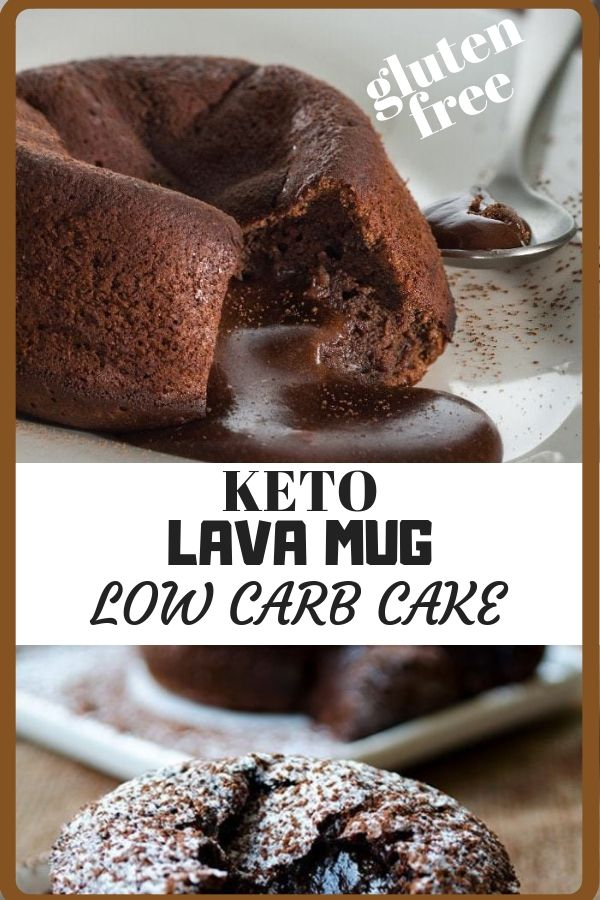 Best Keto Lava Mug Cake Recipe KEto diet Ketogenic Diet ...
