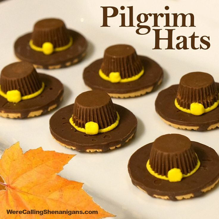 Thanksgiving Pilgrim Hat Cookies! Awesome!