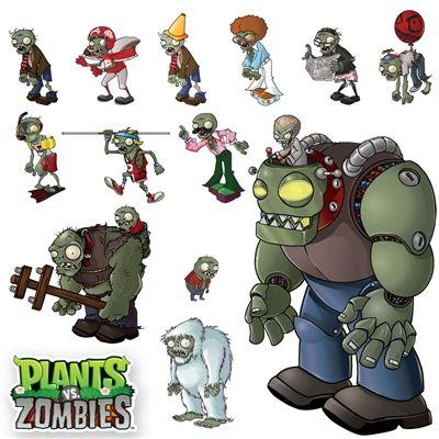 WALLS 360 wall graphics: Plants vs Zombies Zombie set http://www.walls360.com/plants-vs-zombies-zombie-set-p/9151.htm