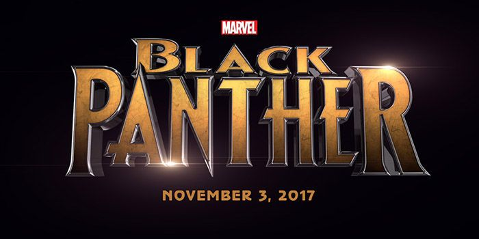 Black Panther Official Movie Logo Black Panther to be Played by Chadwick Boseman