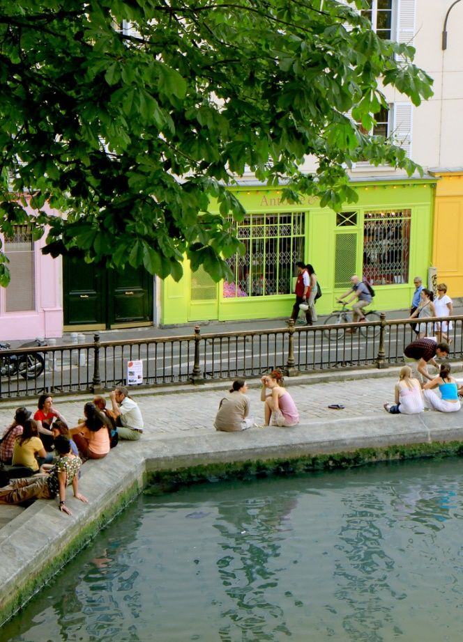Canal Saint Martin, Paris X I love this colorful little spot and the lovely shops.