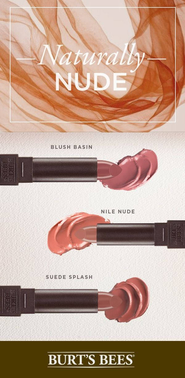 Dinner party? Interview? Baby shower? Concert? There's never a wrong time for a classic nude lip. Burt's Bees has the nude satin lipstick shades for every occasion. Between barely-there and bold nude, look no further than Burt's Bees. When 8 hour moisture meets 14 luscious shades, your lips will be looking as good as they feel.