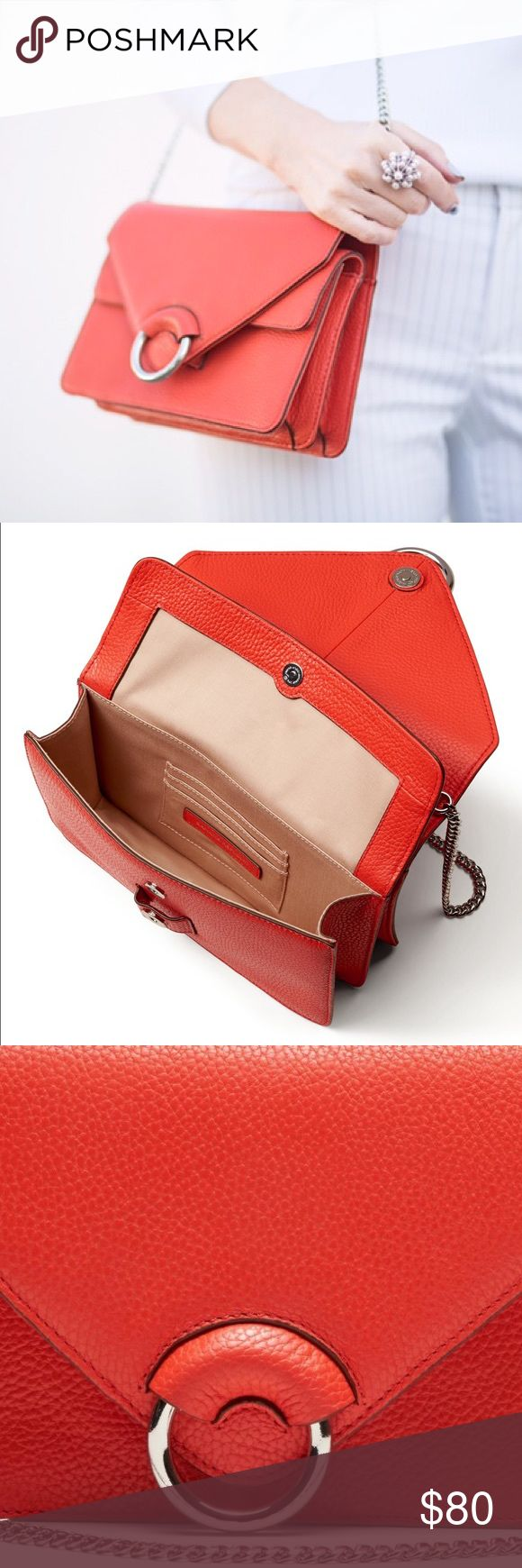 banana republic Italian leather accordian bag Poppy orange leather, must have for the season. Brand new! Banana Republic Bags Shoulder Bags