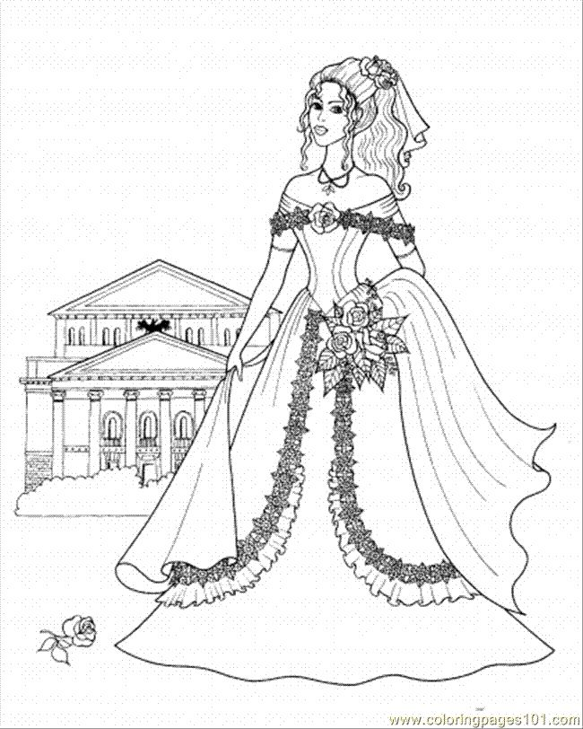 Princess castle coloring pages