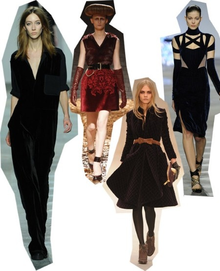Velvet. London Fashion Week trends autumn/winter 2012