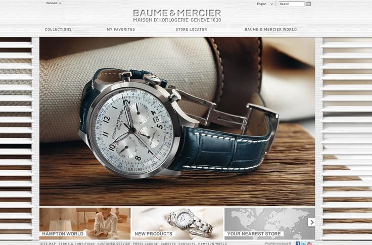 Site Internet de Baume & Mercier