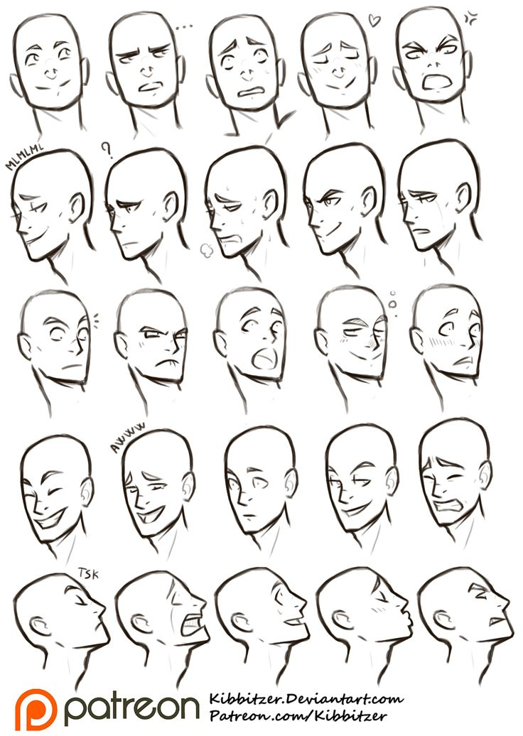 Facial Expressions reference sheet