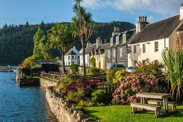 Plockton  West Highlands of Scotland were the BBC series Hamish McBeth was made       It's a beautiful place to visit and very near the Sky Bridge