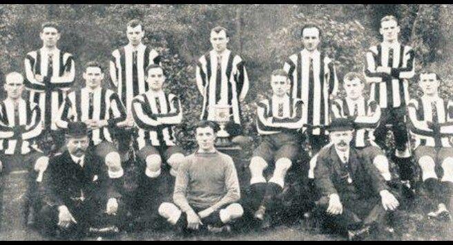 Newcastle United's 1910 FA Cup winning team