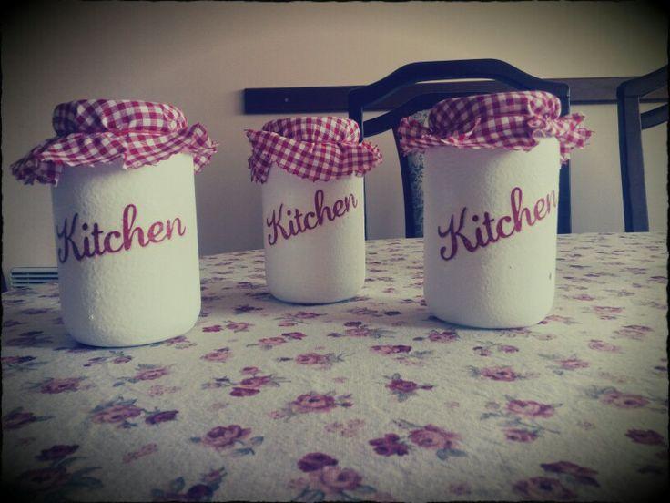 DIY Kitchen jars