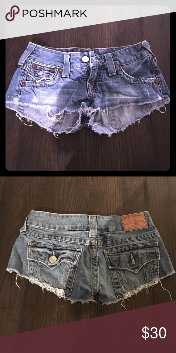 True Religion Shorts Rock these daisy duke shorts with confidence! Great condition - no wear and tears. :) True Religion Shorts Jean Shorts