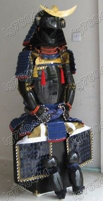 Japanese-Iron-amp-Silk-wearable-Rustung-Samurai-Armor-suit-003