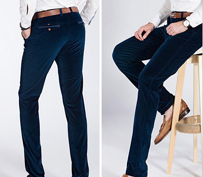 Pas cher haut de gamme nouvelle hiver pantalon de velours bien stretch en velours c tel hommes - Cafe velours noir pas cher ...