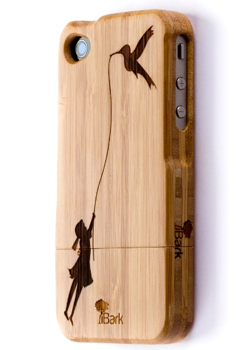 'Humming Way' Laser Engraved Bamboo iPhone Case