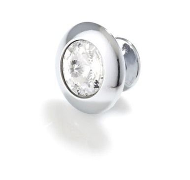 Topex Round Crystal Bright Chrome Knob 30MM Overall