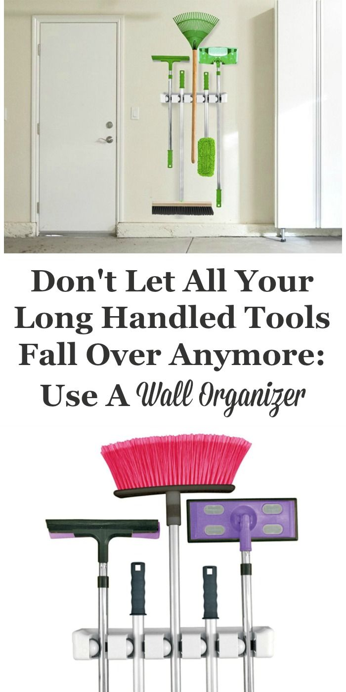 If you don't have a place for your brooms and mops, or other long handled tools, or they're always falling over and driving you crazy having to pick them up, it isn't hard to fix this problem. All you need to do is install a mop and broom holder or wall organizer to the wall.