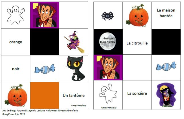 Lesson plan for children 4-7 and 7-12 Halloween + animal bingos to be printed and used