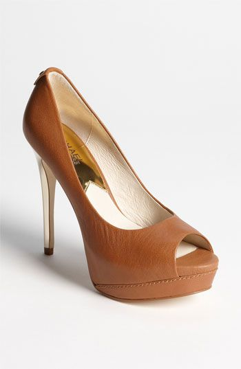 MICHAEL Michael Kors 'Josie Peep' Pump available at #Nordstrom...perfect for work dinners