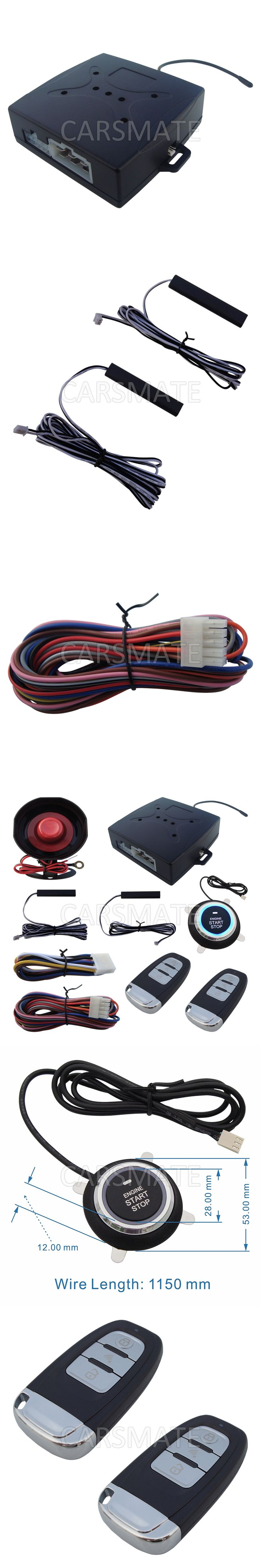 Universal Rolling Code PKE Car Alarm System With Car Engine Start Stop Auto Lock & Unlock