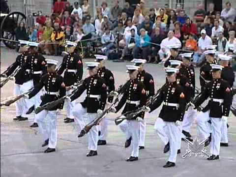 I don't know why -- but I've always enjoyed seeing cadence runs and drill teams.  No military in our family, so not sure where that comes from.  This is the USMC Silent Drill Team and I just realized why it's called silent -- hey, no one is calling out time or moves.  Impressive.  Drill starts at 1:10